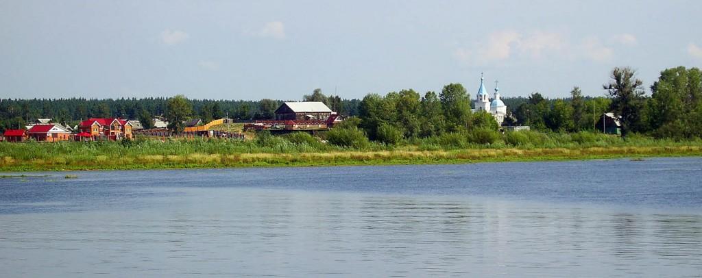 вид с Волги на село Кокшайск